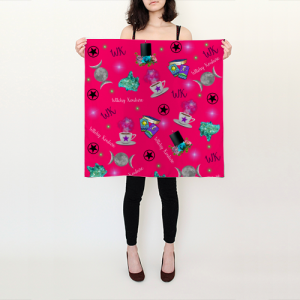 WK #ModernWitchLife Pink Print Square Scarf