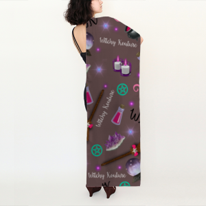 WK #ModernWitchLife Taupe Print Long Scarf