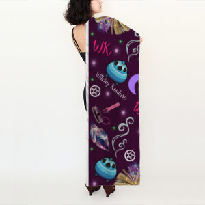 WK #ModernWitchLife Purple Print Long Scarf