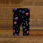 WK #ModernWitchLife Black Print Baby Leggings
