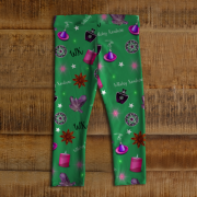 WK #ModernWitchLife Green Print Baby Leggings