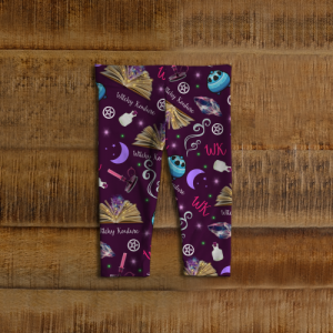 WK #ModernWitchLife Purple Print Baby Leggings