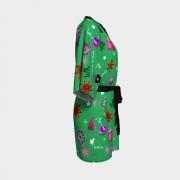 WK #ModernWitchLife Green Print Kimono Robe