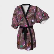 WK #ModernWitchLife Taupe Print Kimono Robe